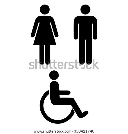 Bathroom Signs Eps man woman restroom sign isolated vector stock vector 350421326
