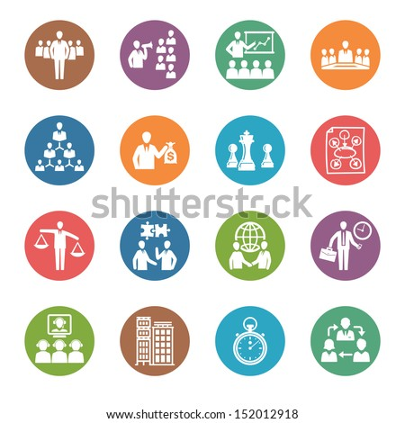 Management and Business Icons - Dot Series  - stock vector