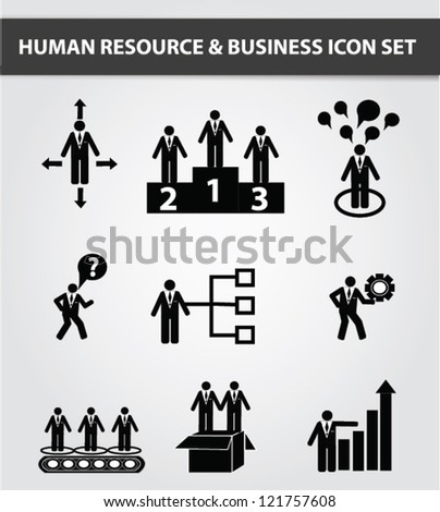 Management and Human Resource Icons,Vector - stock vector