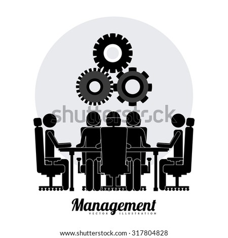 Management concept about business icons design, vector illustration eps 10
