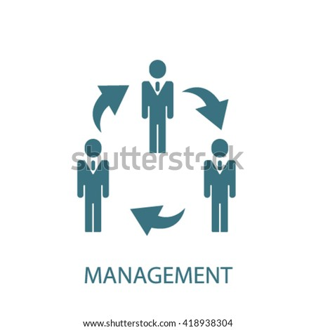 management icon  - stock vector