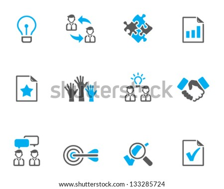 Management icon series  in duo tone colors - stock vector