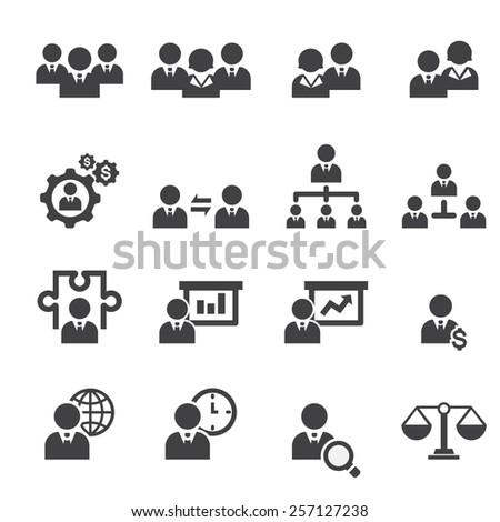 management icon set - stock vector