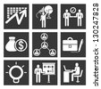 management icon set, business and organization icon set - stock photo