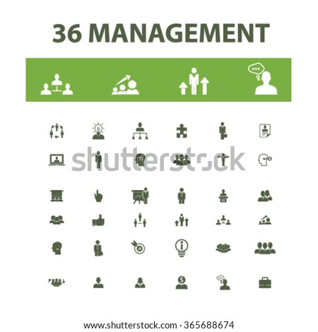 management, partners, human resources, avatar, community  icons, signs vector concept set for infographics, mobile, website, application  - stock vector