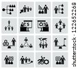 Management people,business concept,icons,Vector - stock vector