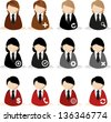 management People icons - stock vector