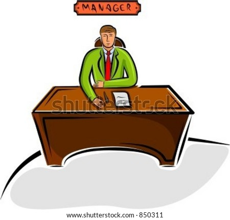 Manager sitting on a desk. Check my portfolio for many more images of this series.