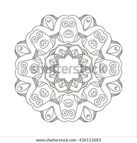Mandala Coloring Book Outline Mandalas Inspired Arabian And Indian Tibetan OrnamentAdult