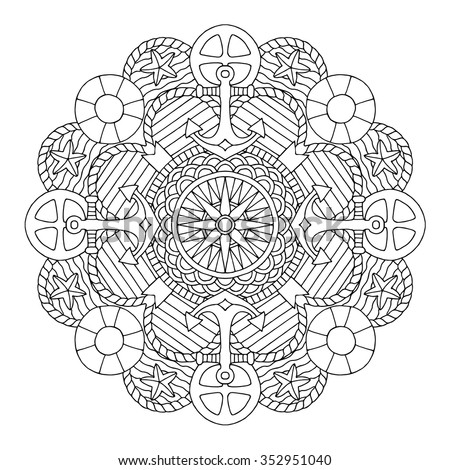 water mandala coloring pages | Water Mandala Stock Vectors & Vector Clip Art | Shutterstock