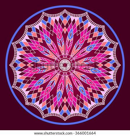 Mandala. Dream-catcher. Ethnic decorative elements. Islam, Arabic - stock vector