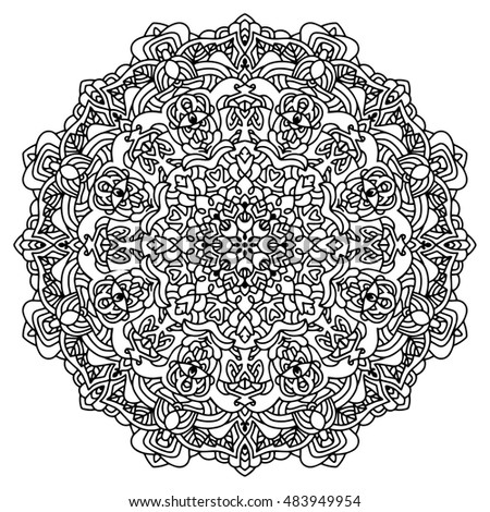 mandala for painting vector ethnic oriental circle ornament great for antistress coloring book - Mandala Coloring Books For Adults