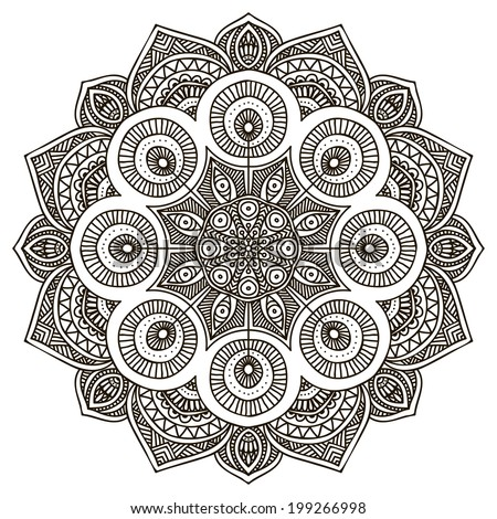 Mandala. Round Ornament Pattern - stock vector