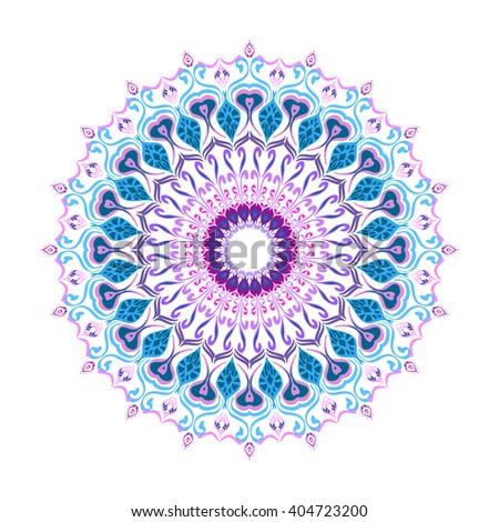 Mandala. Round Ornament Pattern. Geometric circle element made in vector. Spiritual and ritual symbol of Islam, Arabic, Indian religions.  Oriental motifs.   Ottoman design. - stock vector