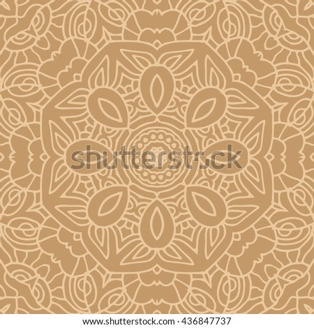 Mandala seamless pattern. Ethnic abstract decorative floral ornament. Hand drawn background. Islam, Arabic, Indian, turkish, pakistan, chinese, ottoman motifs. Background texture.