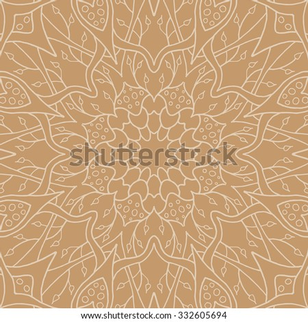 Mandala seamless pattern. Floral ethnic abstract decorative ornament. Hand drawn background. Islamic, arabic, indian, zentangle, tribal, african motif. Background texture for your design and business. - stock vector