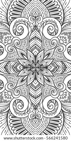 Doodle Seamless Background Vector