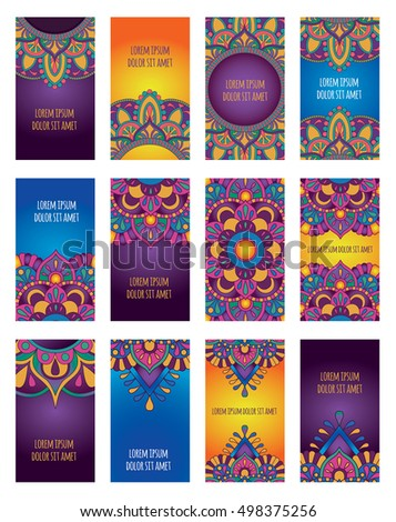 Mandala vector template business card flyer stock vector 498375256 mandala vector template of business card flyer banner yoga club meditation center reheart Choice Image