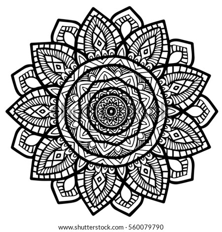 Mandalas for coloring book. Decorative round ornaments. Unusual flower shape. Oriental vector, Anti-stress therapy patterns. Weave design elements. Yoga logos Vector,