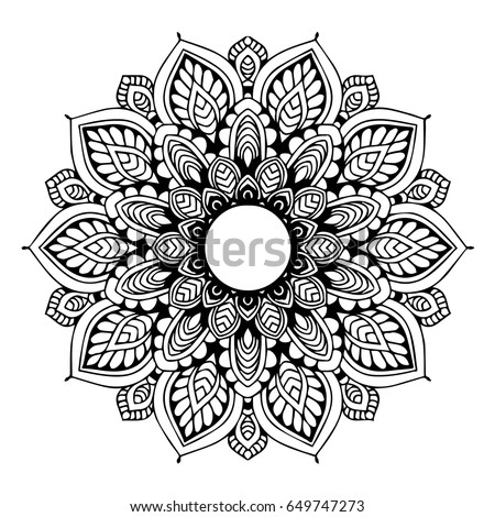 Mandalas Coloring Book Decorative Round Ornaments Stock Photo (Photo ...