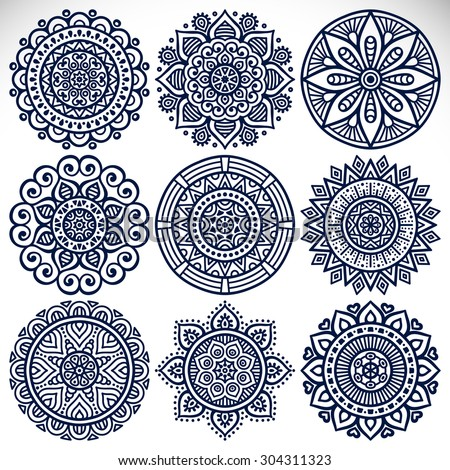 mandalas vintage decorative elements oriental pattern stock vector 304311323 shutterstock. Black Bedroom Furniture Sets. Home Design Ideas