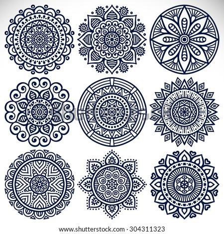 mandalas vintage decorative elements oriental pattern stock vector 304311323 shutterstock. Black Bedroom Furniture Sets. Home Design Ideas