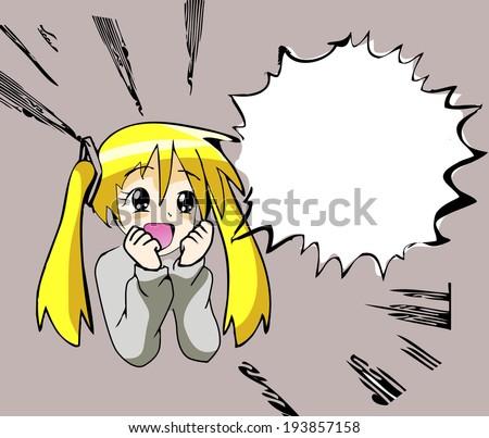 manga girl  - stock vector