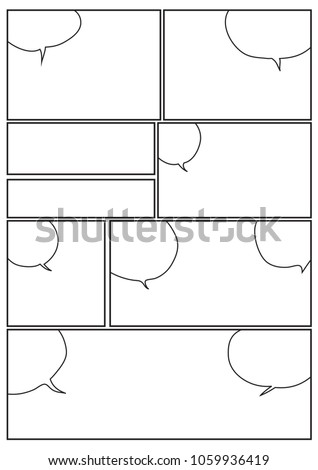 Manga Storyboard Layout Template Rapidly Create Stock Vector 2018