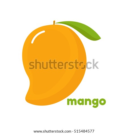 Mango icon. Vector illustration of tropical fruit