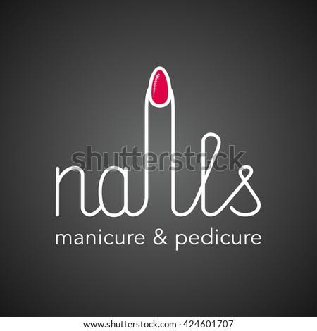 Nail Salon Logo Design Ideas deluxemodern custom logo design comps for halo salon Manicure Vector Logo Icon Nails Salon Original Identity Sign Template Design Element