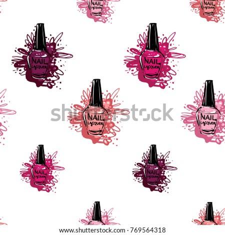 Nailpolish stock images royalty free images vectors for Uniform spa vector