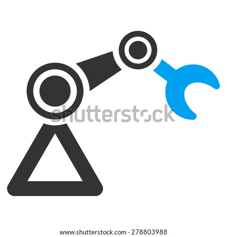 Manipulator icon from Business Bi color Set. This isolated flat symbol uses modern corporation light blue and gray colors. - stock vector