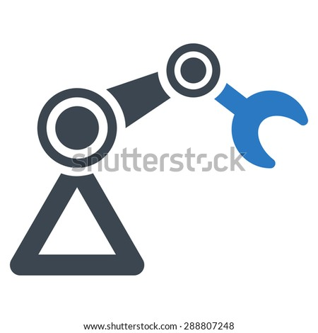 Manipulator icon from Business Bicolor Set. This flat vector symbol uses smooth blue colors, rounded angles, and isolated on a white background. - stock vector