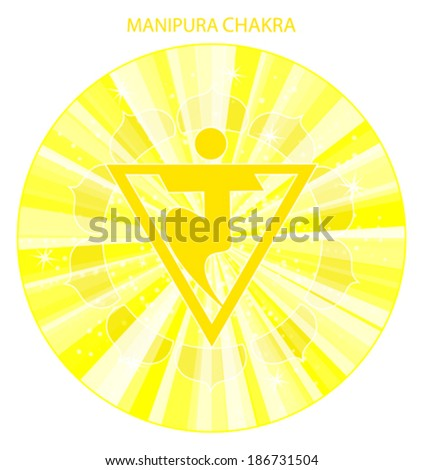 Manipura chakra vector illustration - stock vector