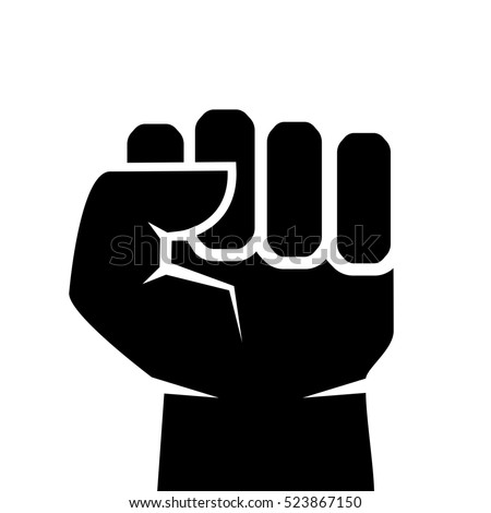 Manly fist vector icon illustration isolated on white background, force symbol. Fist icon. Fist sign. Fist clip art vector icon.