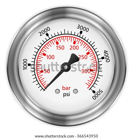 Manometer on a black background. - stock vector