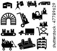 Manufacturing icon set isolated on a white background. - stock vector