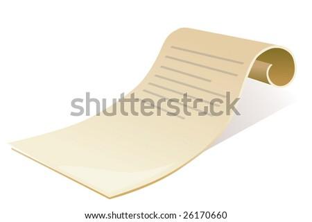 Manuscript - stock vector