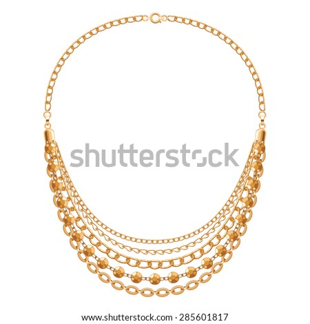 Gold Necklace Stock Images RoyaltyFree Images Vectors