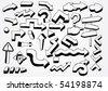 many doodled arrows - stock photo