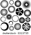 many round, circle - vector - - stock vector