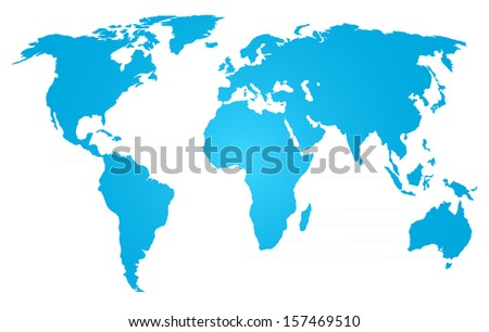 map - stock vector