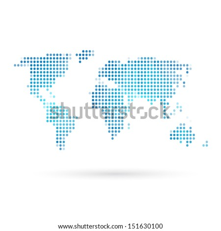 Map abstract isolated on a white backgrounds - stock vector
