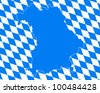 Map and flag of Bavaria - stock photo