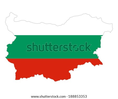 Map and flag of Bulgaria