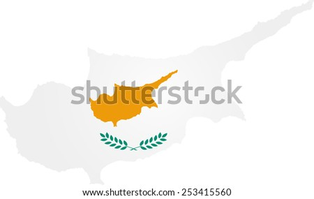 Map and flag of Cyprus - stock vector