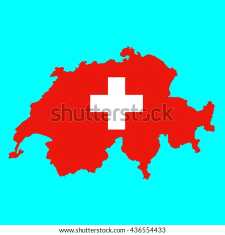 Map and flag of Switzerland