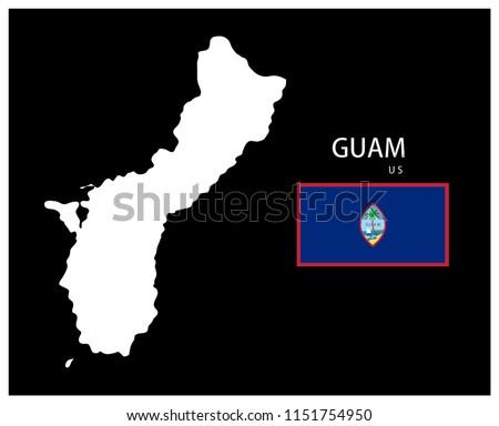 Map National Flag Guam US Map Guam Stock Vector (Royalty Free ...