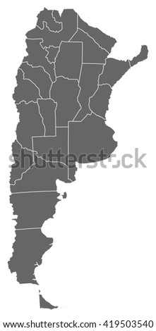 Map - Argentina - stock vector