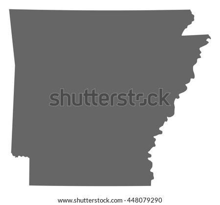 Map - Arkansas (United States) - stock vector
